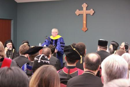 Dr. Paul Meyendorff delivers the Commencement Address