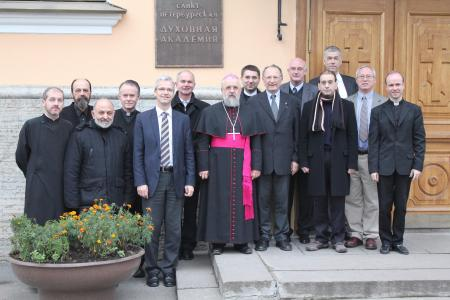 With the St. Irenaeus Orthodox-Catholic Working Group in St. Petersburg, Russia