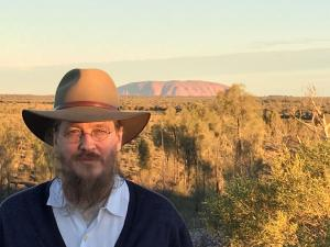 Fr. John sporting his Akubra hat, a gift from his host Bishop Suriel (photo: Christine Jabbour Ayoub)