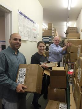 SVS Bookstore staffers prepare to send $15K of books on a 7K journey