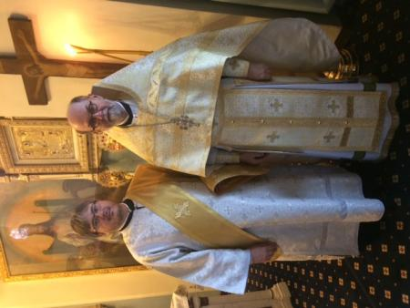 Fr. Chad Hatfield and Dn. Gregory Hatrak in Russia.