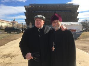 Cardinal Timothy Dolan with Archpriest Chad Hatfield
