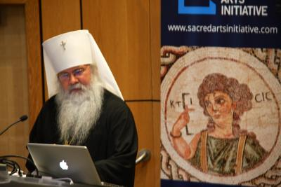 "Metropolitan Tikhon opens the ""Sounding the Sacred"" conference with theological reflection on Pärt's works (photo: Alexandru Popovici)"