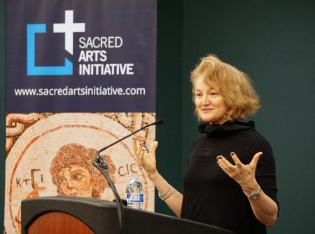 Krista Tippett, host of On Being, lectures about the value of spiritual genius (photo: Adrienne Soper)