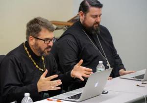 Fr. Sergius (left), program director, with 2017 Cohort student Fr. Timothy Chrapko